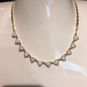 Kendra Scott white iridescent necklace